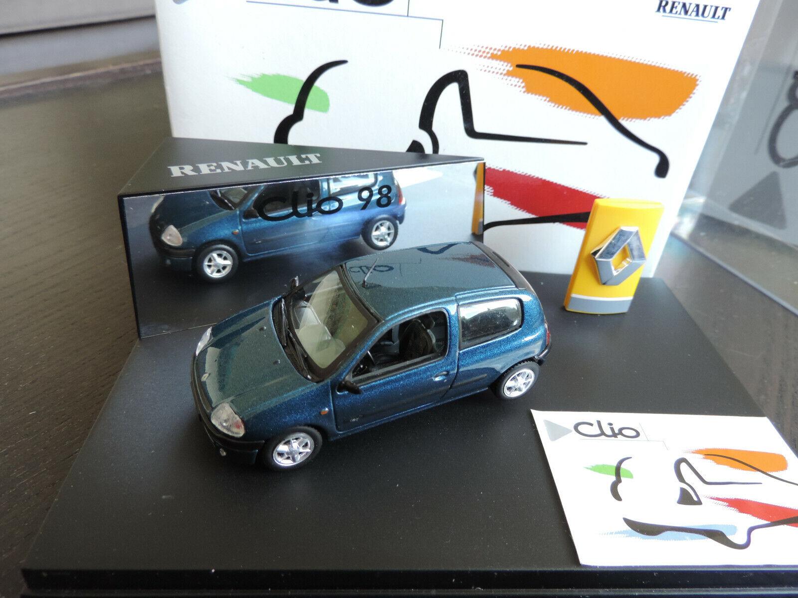 COFFRET RENAULT CLIO 3 PORTES VITESSE 1 43 EN  BOITE + SUR BOITE idem norev  meilleur prix