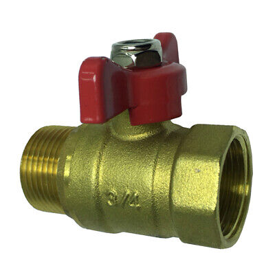 Water Shut Off Valve Garden Hose Ball Valve Connector Brass 4 Points
