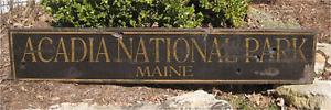 Custom National Park Wood Rustic Handmade Vintage Wooden Sign WWS000106