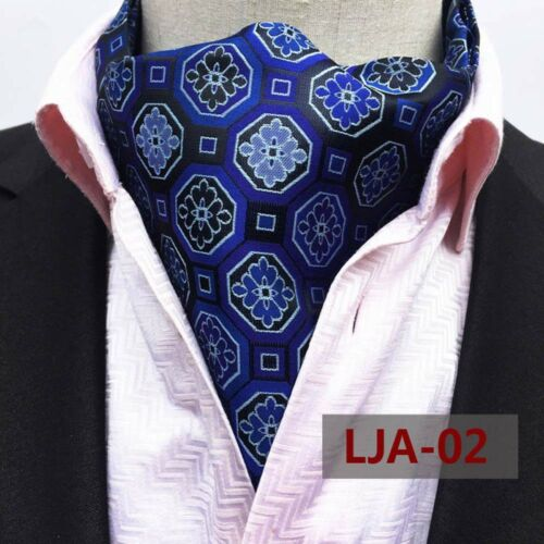 Mens Polka Dots Floral Paisley Silk Cravat Scarves Ascot Wedding Party Neckties