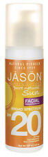 Jason Organic Pure Natural Sun Broad Spectrum SPF 20 FACIAL SUNSCREEN 128g