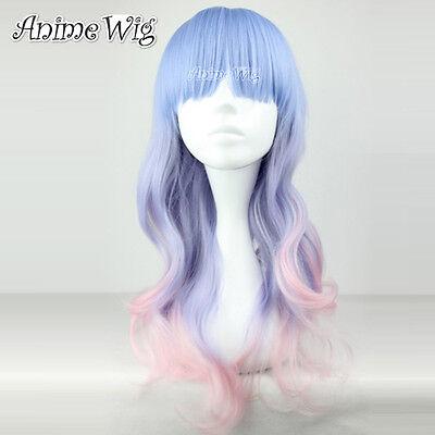Lolita/Harajuku Street style Anime Wig Perücke Gemischt Farbe Glockt Gewellt