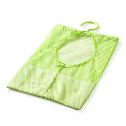 1X Hanging Bathroom Bath Storage Clothespin Mesh Bag Hooks Organizer Shower Nets