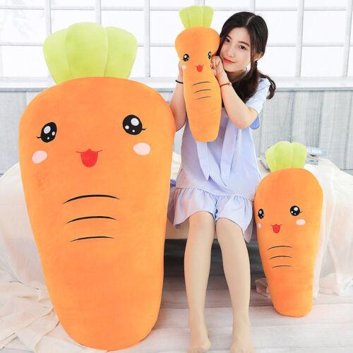 45-100cm Cartoon Expression Plush Stuffed Carrot Soft Vegetable Pillow Plush Toy