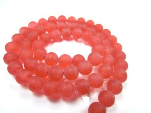 Jade rojo mate 6mm perlas balas cerca de joyas perlas 1 Strang