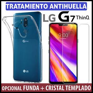 Funda-TPU-gel-TRANSPARENTE-Para-LG-G7-ThinQ-Protector-DE-CRISTAL-TEMPLADO