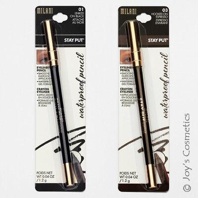"""2 MILANI Stay Put Waterproof Matte Eyeliner Pencil """"MSPE - Black & Brown Set"""""""