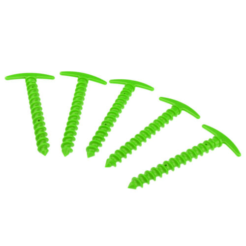 Ultra Lightweight 5x Plastic Tent Stakes//Pegs//Pins Spiral Nail Ground Anchor