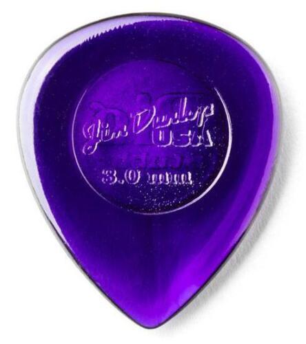 Dunlop Big Stubby Picks 6er Players Pack 3,0 mm Guitar Pick Jazz Form Lexan Lila