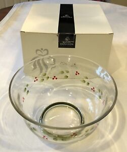 NEW-HTF-Royal-Doulton-Crystal-Gooseberry-Large-9-034-Footed-Bowl