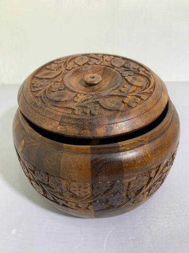 Hand Carved Rosewood Wooden Bowl Handmade Bowl Traditional//Decorative Bowl