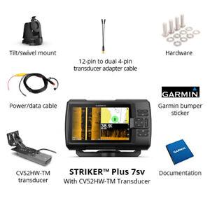 Garmin-Striker-Plus-7sv-Fishfinder-GPS-with-CV52HW-TM-Transducer-010-01874-00