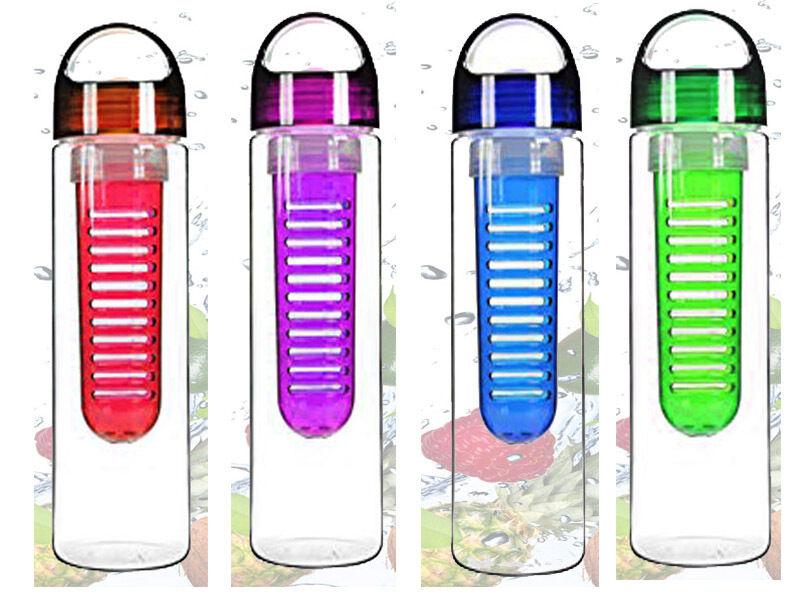 Nouvelle bouteille d'eau de perfusion de fruits Infuseur Sports Gym nourrissant sains detox DIETE