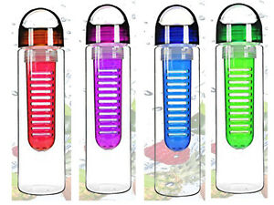NEW FRUIT INFUSION WATER BOTTLE INFUSING INFUSER SPORTS GYM HEALTHY DETOX DIETE