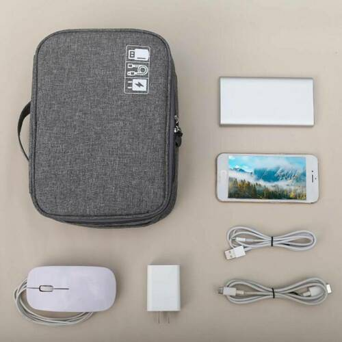 Travel Cable Organiser Bag Case Gadget Carring Pouch Electronics Accessories DS