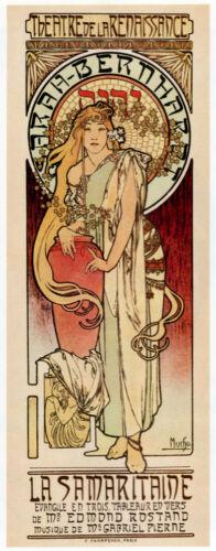 """4002/""""The Samaritan/""""Theatre Vintage Poster.Sarah Bernheart Art Nouveau Decorative"""