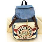 Women Girl Denim Canvas Backpack Shoulder Bag Rucksack Travel Schoolbag Satchel
