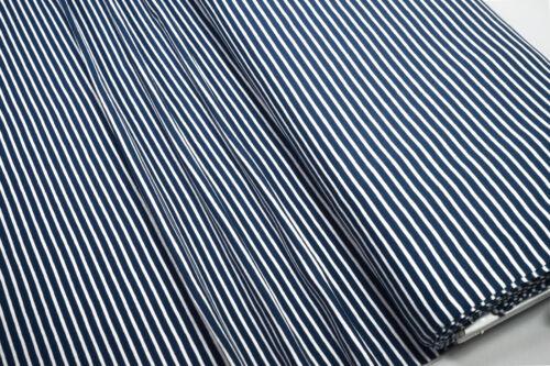 Jersey Little Darling dunkelblau weiß gestreift 0,5m