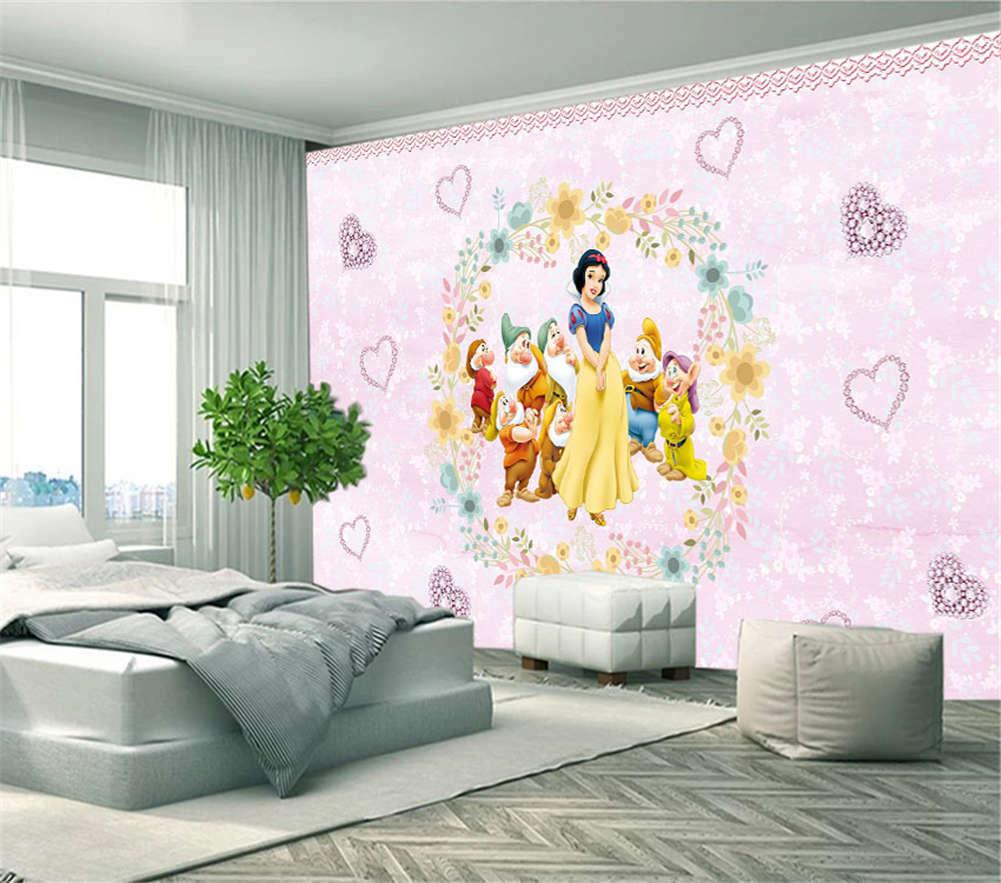 Snow Weiß Seven Dwarfs 3D Full Wall Mural Photo Wallpaper Print Home Kids Decor