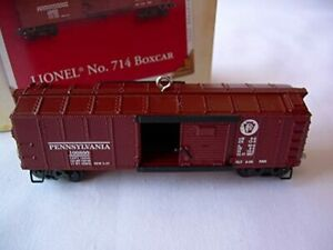 Lionel-No-714-Boxcar-Hallmark-Keepsake-Ornament-C-10-New-in-Box-gn