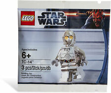 *BRAND NEW* Lego 5000063 STAR WARS Silver Chrome Minifig TC-14 Polybag