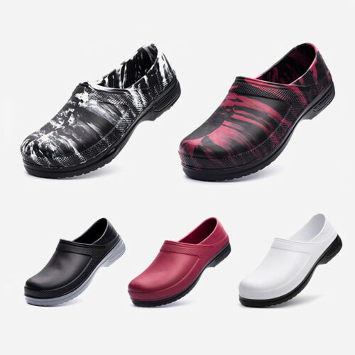 Mens Womens Non-slip Safety Work Chef Shoes Oil /& Water Proof Kitchen Cook Shoes