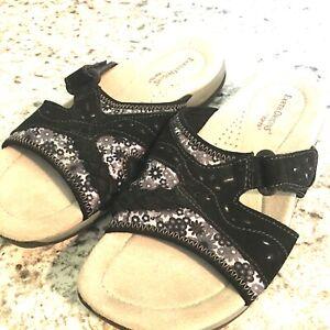 EARTH-Origins-Sizzle-Women-s-Size-8-M-Blue-Floral-Slides-Sandal-Shoes
