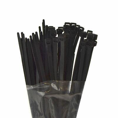 Responsabile 75pc Fascette 200mm X 4.5mm Nero Fascette Wire Wrap Serratura Cravatte Te949- Per Spedizioni Veloci
