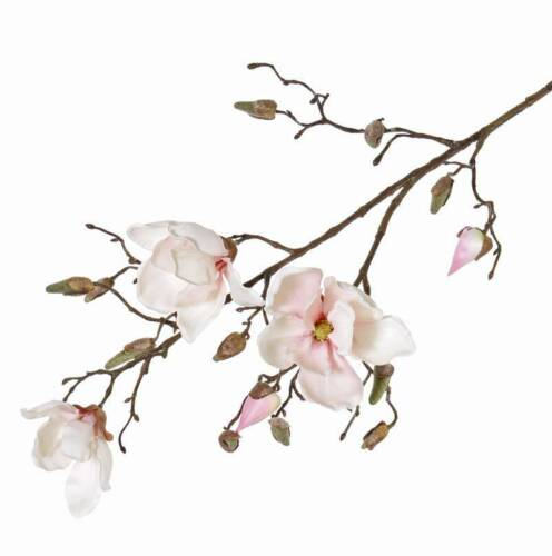 Ø9-11cm 85cm artplants Künstliche Magnolie KIMIKA Kunstzweig weiß-rosa