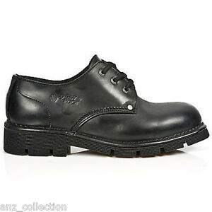 058df130915 c1 Biker Lace Goth Shoes Boots Unisex New Up Newmili032 Newrock Rock ...