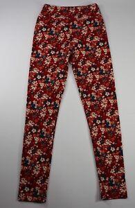 4933475964880 Image is loading LulaRoe-Leggings-Tween-Red-Pink-Blue-Floral-Pattern