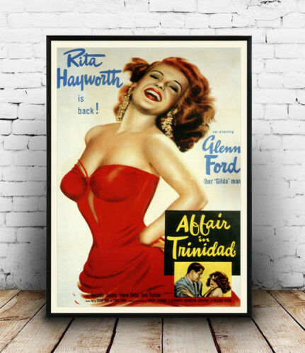 Old film Poster reproduction Affair in Trinidad