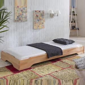 stapelbett g stebett 1 x bett 100x200 kernbuche massiv 1. Black Bedroom Furniture Sets. Home Design Ideas