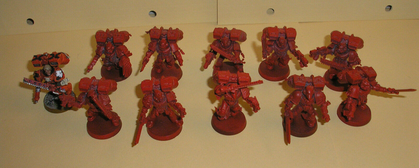 40k Space Marine Blood Angel Painted Assault Squad  5