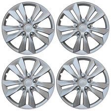 4 Pc Set Hub Cap Abs Silver 16 Inch Rim Wheel Cover Replica Hubcaps Covers Caps Fits Volvo