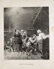 Adolph Tidemand Abschied der Auswanderer Emmigrant Amerika Kolonie Mandal Greis