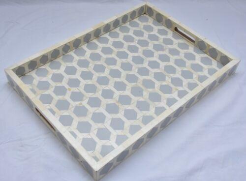 New Designer Multipurpose Bone Inlay Serving Decorative Tray