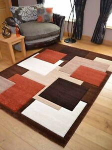 Soft Pile Brown Burnt Orange Floor Mat