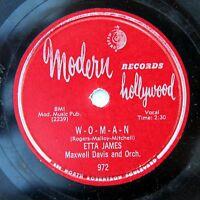 HEAR Etta James 78 W-O-M-A-N/That's All MODERN 972 R&B soul rocker