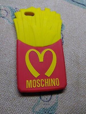 l'atteggiamento migliore 31e27 98201 MOSCHINO iPhone 6+ French Fries Cell Phone Case Cover Red/Yellow Rubber  Silicon | eBay