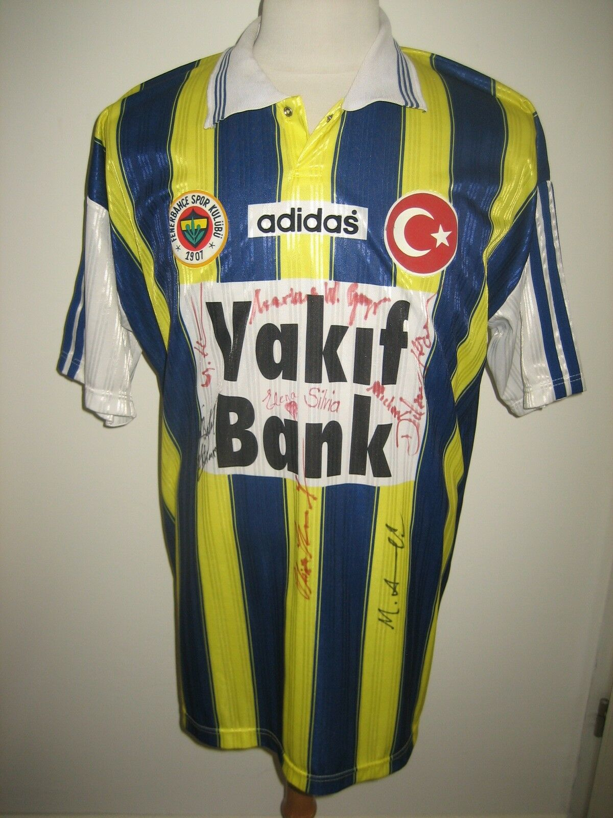 Fenerbahce MATCH WORN home Turkey football shirt soccer voetbal trikot size XL