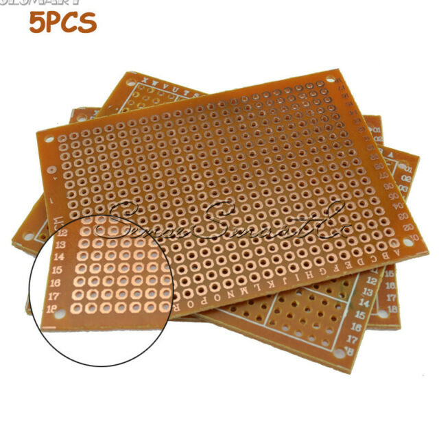 5Pcs Double Side 5x7cm Printed Circuit PCB Vero Prototyping Track Strip Board