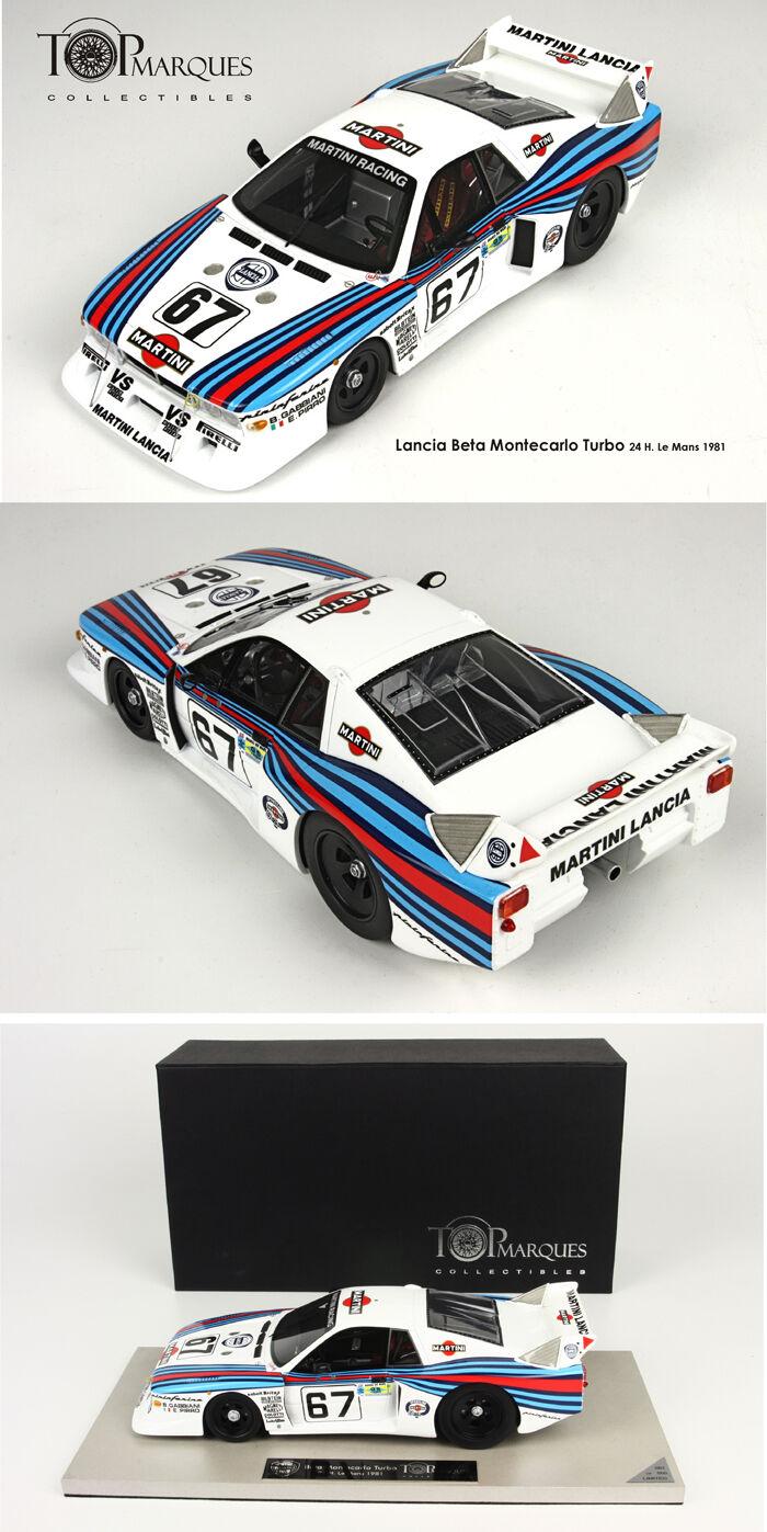 Lancia Beta MontecarloTurbo 24h LE MANS 1981 G.Pirlo Pirlo 1 18 TOP21C BBRMODELS