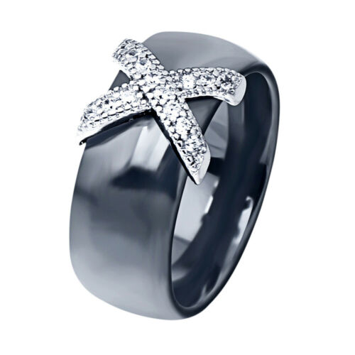 Fashion Ceramic Ring Letter X Cross Ring Jewelry Engagement Ring Gift For Women