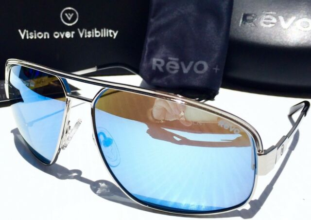 99b7a06eaf REVO STARGAZER Chrome Aviator POLARIZED Blue Water Sunglass 1002 03 BL BONO