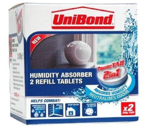 Absorbeur d/'humidité Unibond petit périphérique 2 recharges déshumidificateur stop moisissure humide