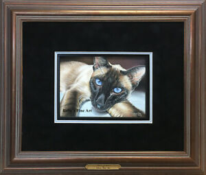 Original-Pastel-Painting-034-Siamese-Cat-034-by-Pastel-Artist-Roberta-034-Roby-034-Baer-PSA