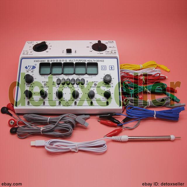 Acupuncture Needle Stimulator Treatment machine Electric Massager 6 output patch
