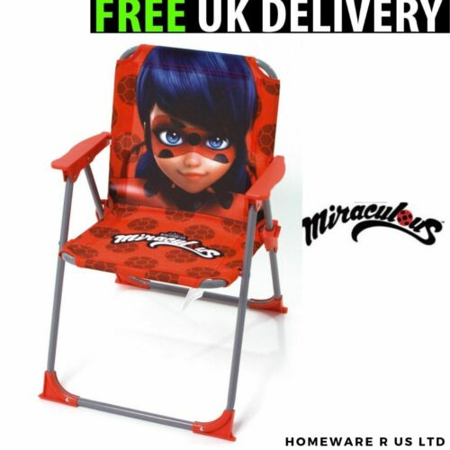 GIRLS CHILDRENS RED MIRACULOUS LADYBUG BEDROOM CHAIRS STOOLS WASTE BIN DUVET SET