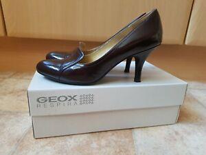 Details zu Geox Lederpumps Petite Cut Lackleder Tanzschuhe Pumps Damen Schuhe Gr 39